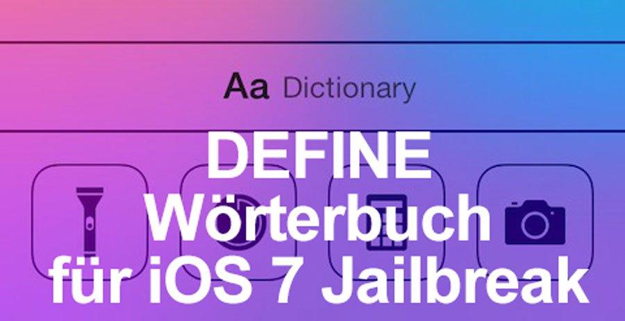Define: iOS 7 Jailbreak iPhone Wörterbuch mit Activator Support! 1