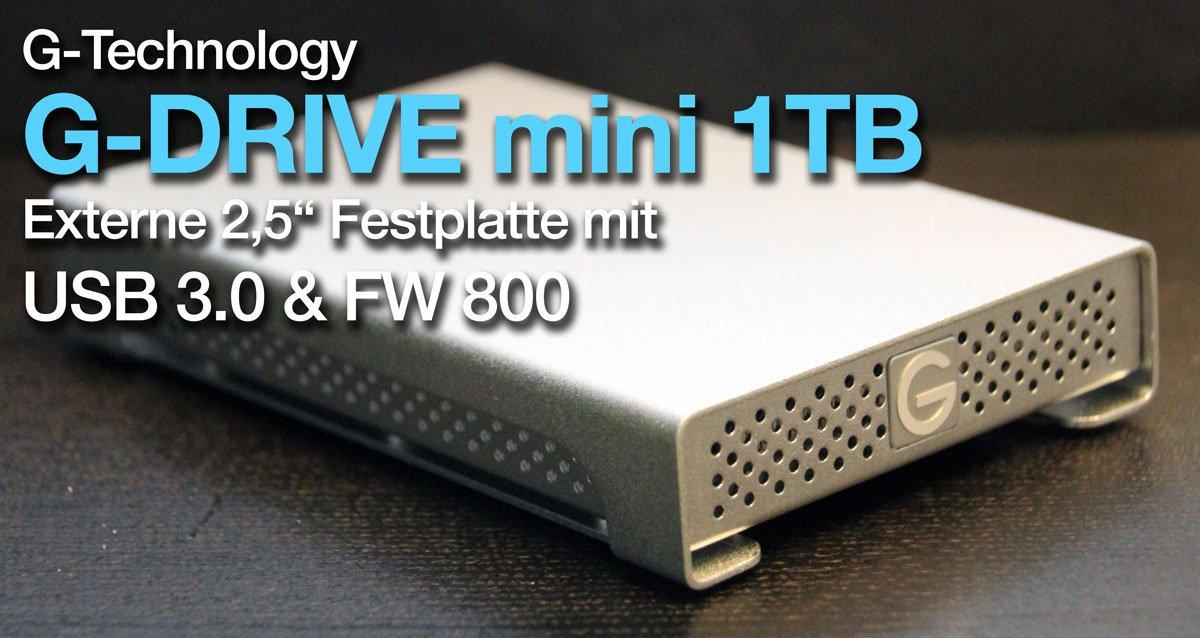 g technology g drive mini 1tb im test high speed usb 3 0. Black Bedroom Furniture Sets. Home Design Ideas