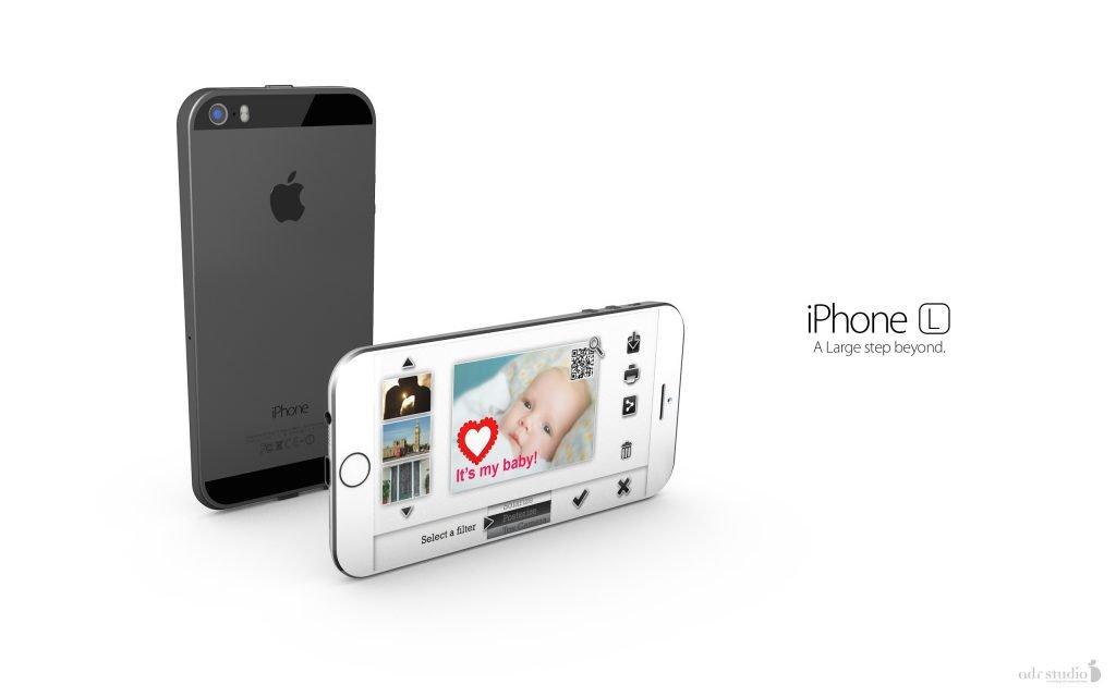 iphone l iphone 6 mit ios 8 konzept in keilform. Black Bedroom Furniture Sets. Home Design Ideas