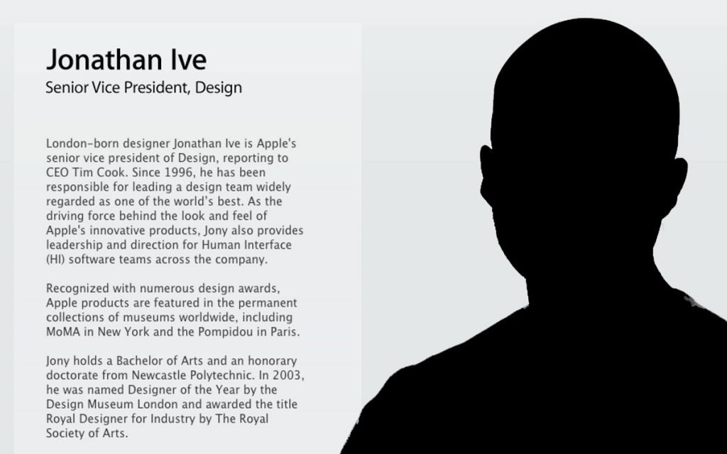 jonathan ive essay Free essay: jonathan swift in an age of where rationality and morals were held to the accepted values, jonathan swift stood out as a champion of humanism.