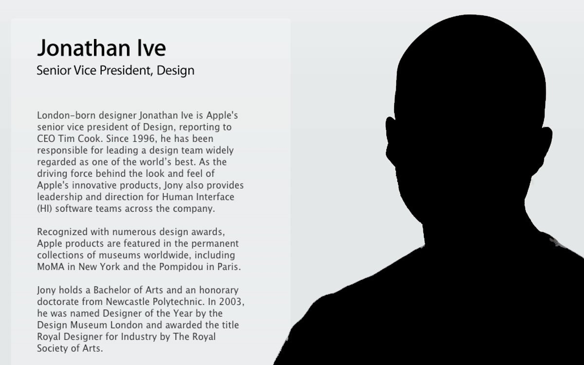 Apple: Wo ist Jony Ive? Apple löscht Jony Ive aus Führungsliste! 5