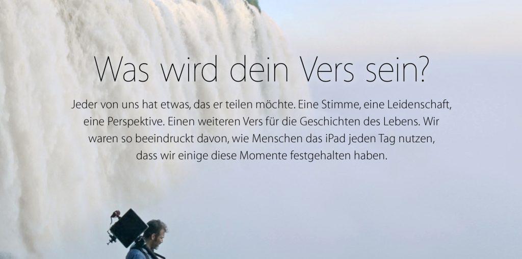ipad air sonderseite tv werbung dein vers endlich in deutscher sprache. Black Bedroom Furniture Sets. Home Design Ideas