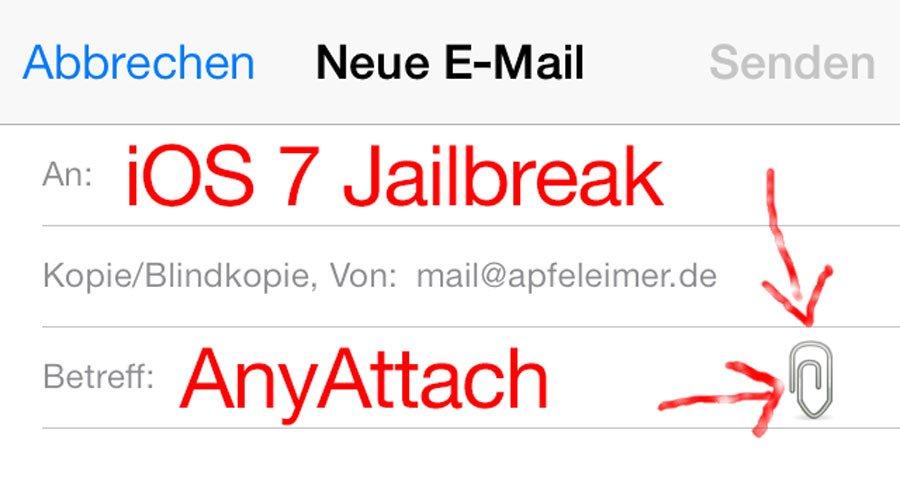 AnyAttach für iOS 7 (Cydia Tweak): Bilder, Musik, mp3 vom iPhone per Email verschicken! 12