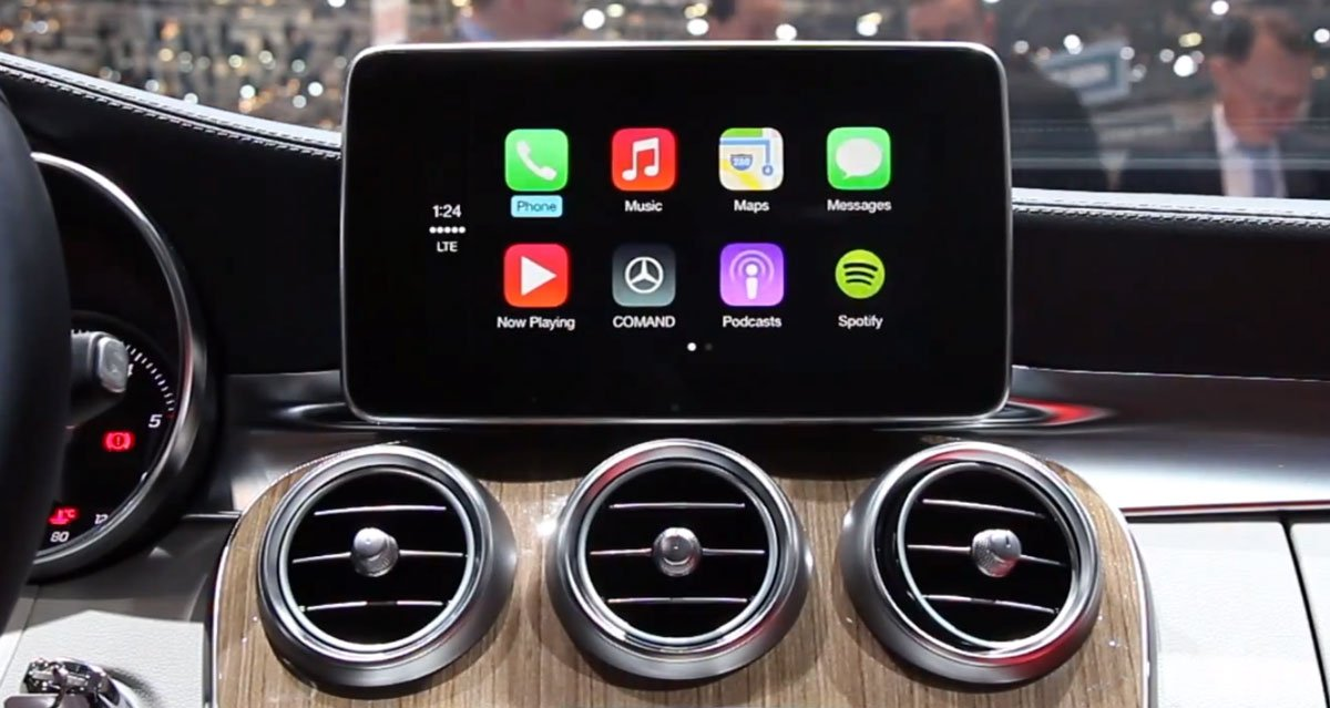 MFI - Made for iPhone: Apple CarPlay in neuer 2014 C-Klasse von Mercedes-Benz (Video) 1