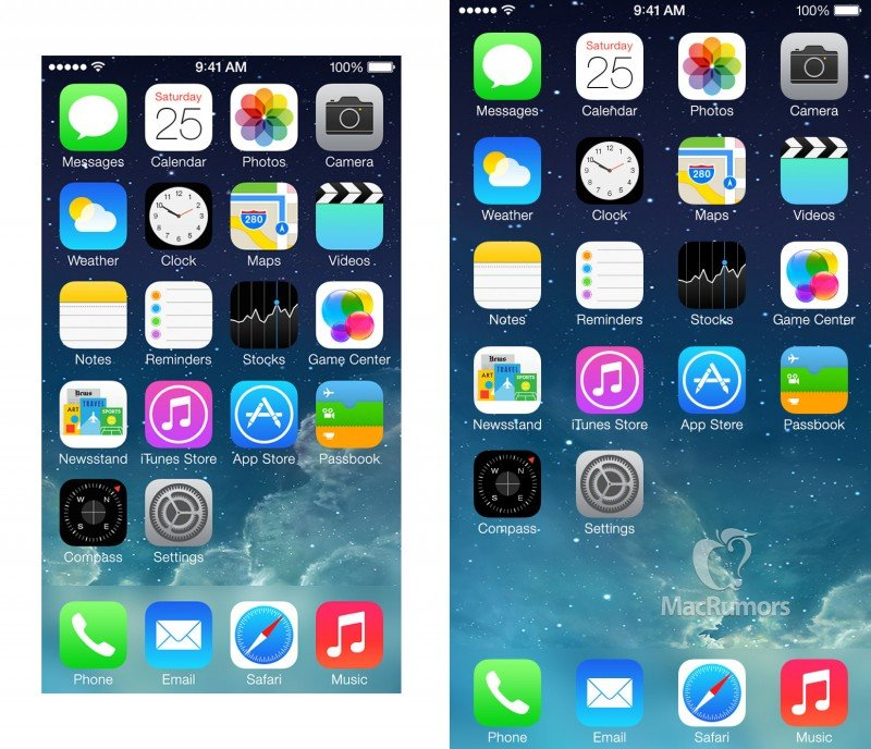 homescreen apps auf iphone 6 mit 4 7 zoll. Black Bedroom Furniture Sets. Home Design Ideas