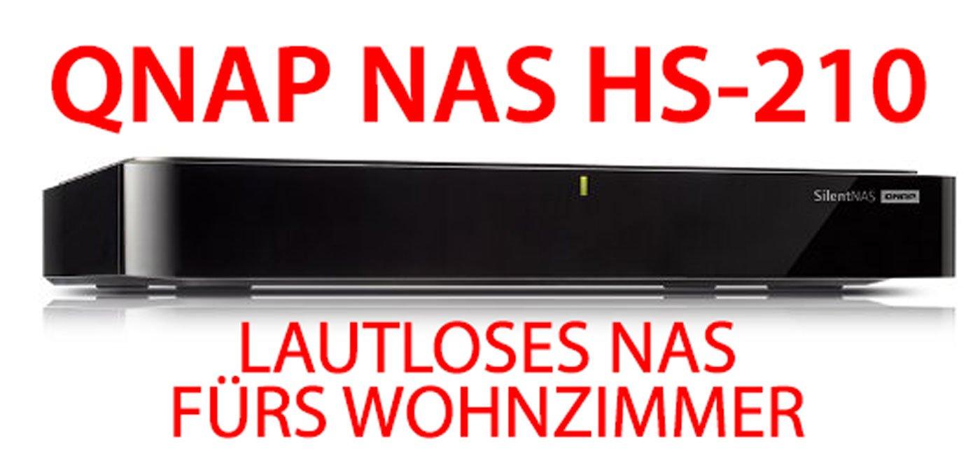 QNAP HS-210: lautloses NAS ohne Lüfter fürs Wohnzimmer