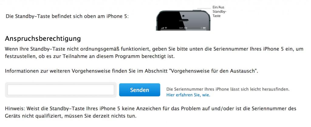 Iphone geht im standby aus