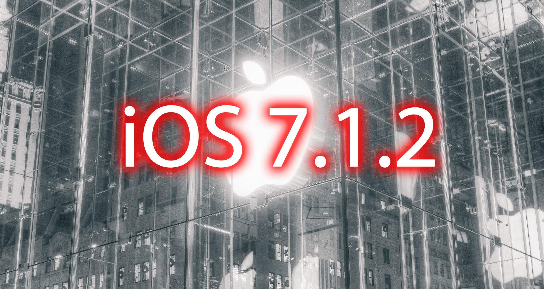 iOS 7.1.2 Update aufgrund iOS 7 Sicherheitslücke 1