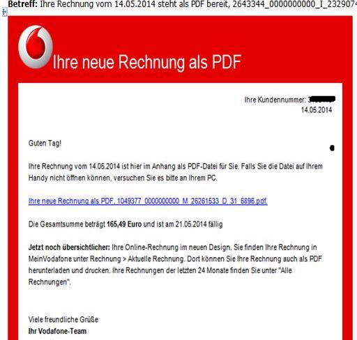 achtung email vodafone telekom rechnung mit trojaner. Black Bedroom Furniture Sets. Home Design Ideas