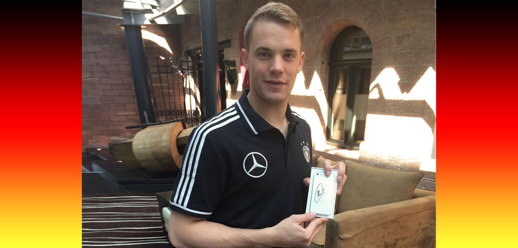 WM 2014: iPhone 5s Auktion mit Manuel Neuer Autogramm  1