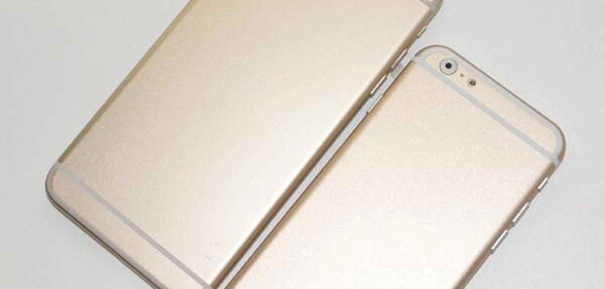 """Goldenes iPhone 6 im Größenvergleich: Neue Bilder zeigen 4,7"""" und 5,5"""" iPhone im Vergleich 10"""