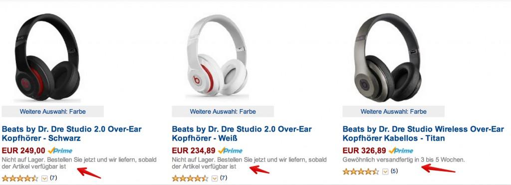 32bc22a4b175d2 Beats bei Amazon ausverkauft - Staples mit 40 Prozent Rabatt auf ...