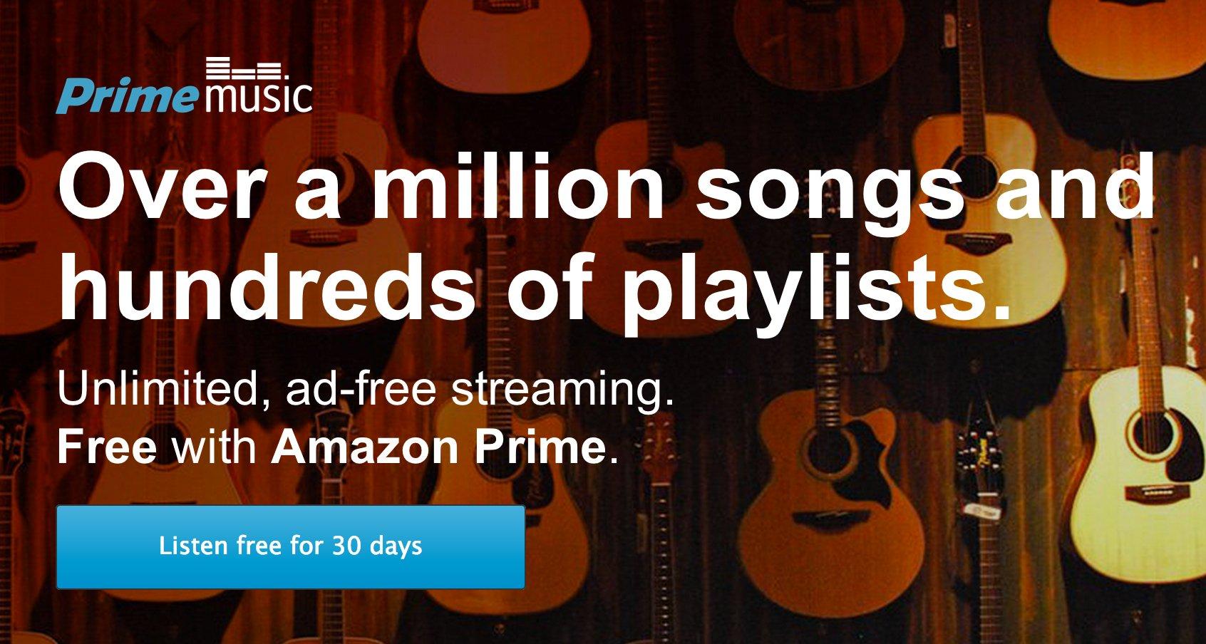 Amazon Prime Music: kostenloses Musik Streaming für Prime Kunden