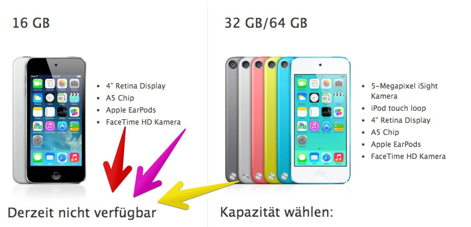 Alle iPod Touch 5G jetzt billiger: ab 199€, bis zu 120€ günstiger! 1