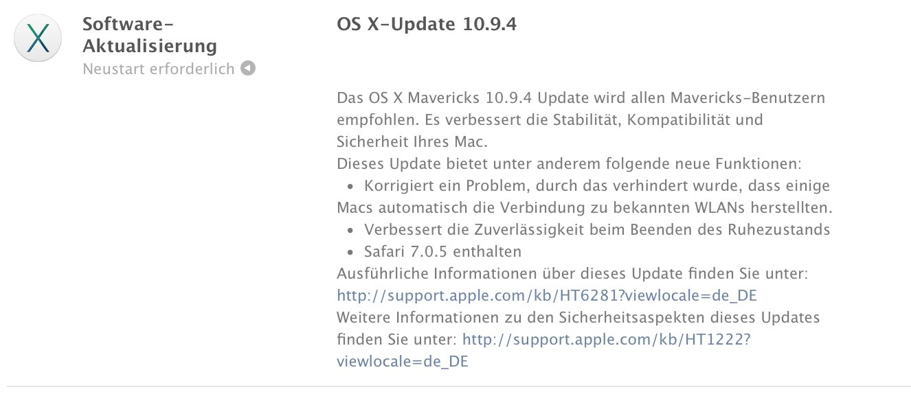 Download OS X 10.9.4: Apple Update für OS X Mavericks mit Safari 7.0.5 4