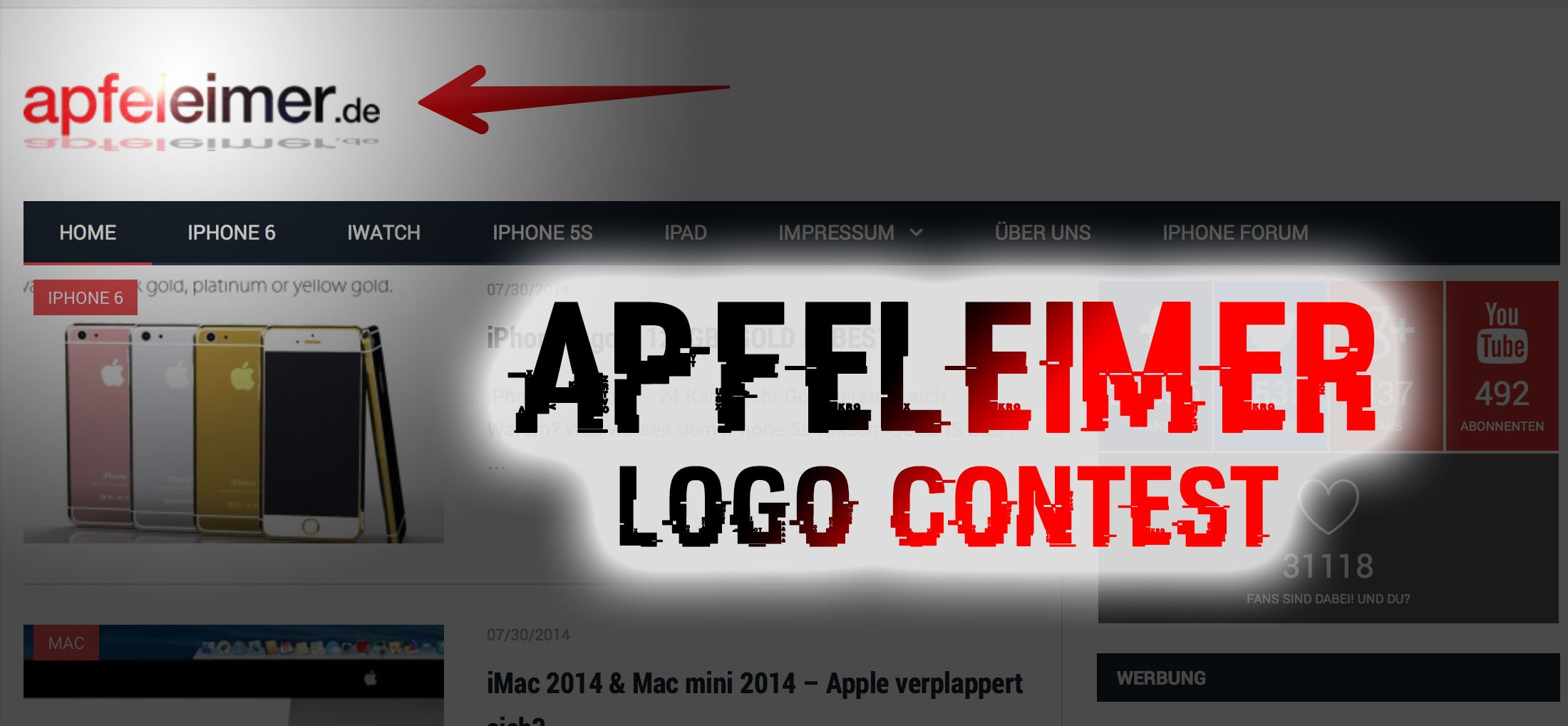 Neues Apfeleimer Apple News Logo! 6
