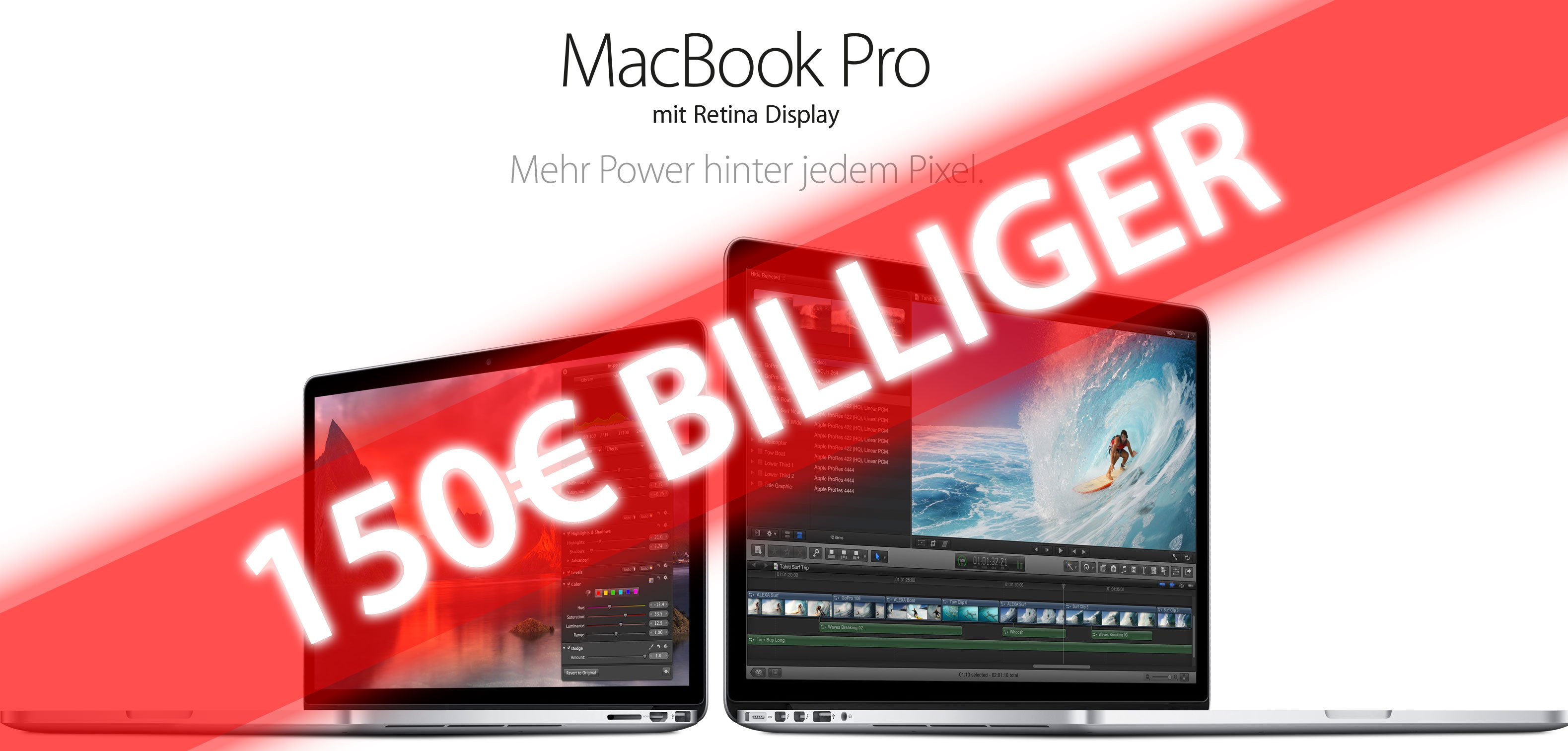 Neues MacBook Pro 150€ billiger 1