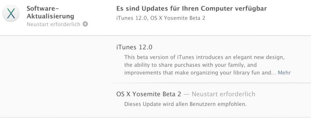 OS X Yosemite Beta 2 für alle: Update / Download ist da!