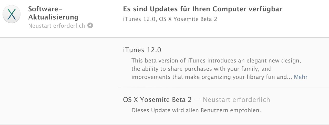 OS X Yosemite Beta 2 für alle: Update / Download ist da! 3