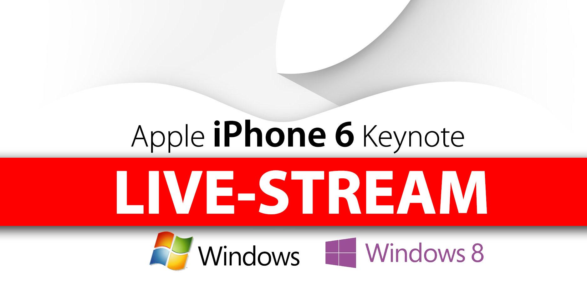 Apple Keynote: Livestream für Windows? 8