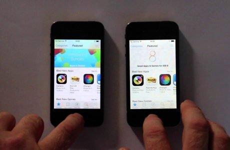 """Speed-Test"": iPhone 4s Vergleich iOS 8.0.2 vs. iOS 7.1.2  6"