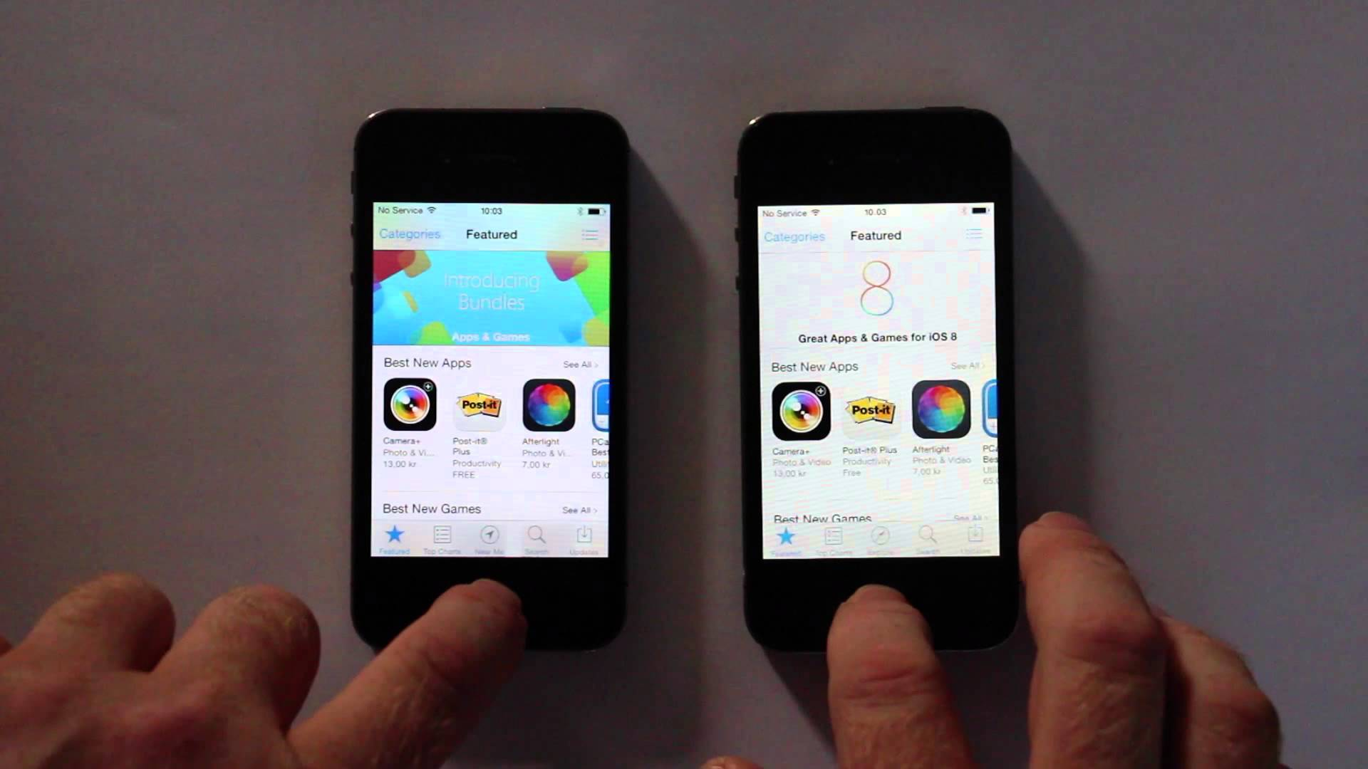 """Speed-Test"": iPhone 4s Vergleich iOS 8.0.2 vs. iOS 7.1.2  7"