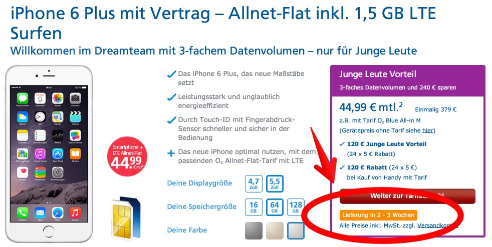 Top-iPhone 2014: iPhone 6 oder 6 Plus, spacegrau, gold oder silber?