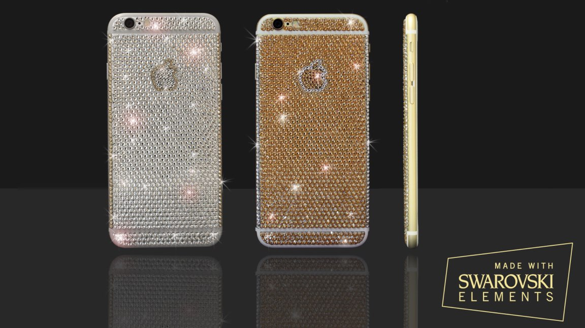 glitzer iphone 6 mit swarovski kristallen. Black Bedroom Furniture Sets. Home Design Ideas