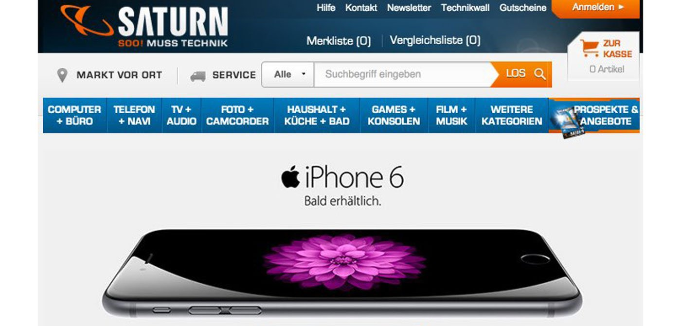 iPhone 6 bei Media Markt & Saturn