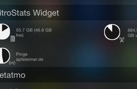 NitroStats: iOS 8 Widget für Datenverbrauch Telekom & Congstar 9