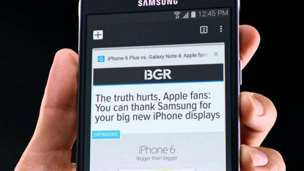 Samsung Werbung: Galaxy Note 4 vs. iPhone 6 Plus