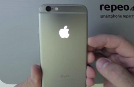 iPhone 6 mit leuchtendem Apple Logo 5