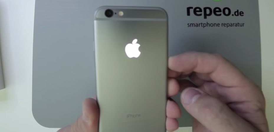 iPhone 6 mit leuchtendem Apple Logo 5
