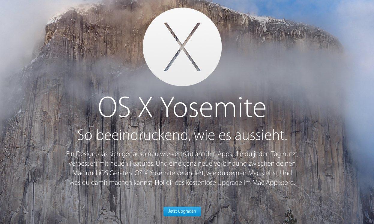 OS X Yosemite Download für ALLE ab sofort erhältlich 1