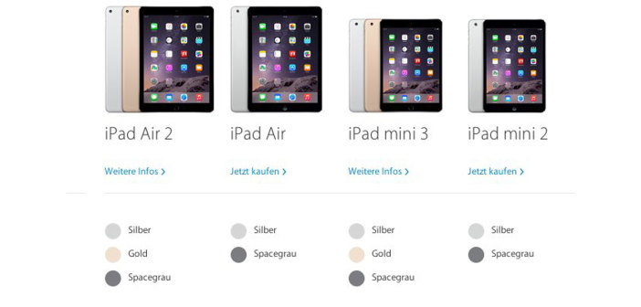 vergleich neues ipad air 2 top neues ipad mini 3 flop. Black Bedroom Furniture Sets. Home Design Ideas