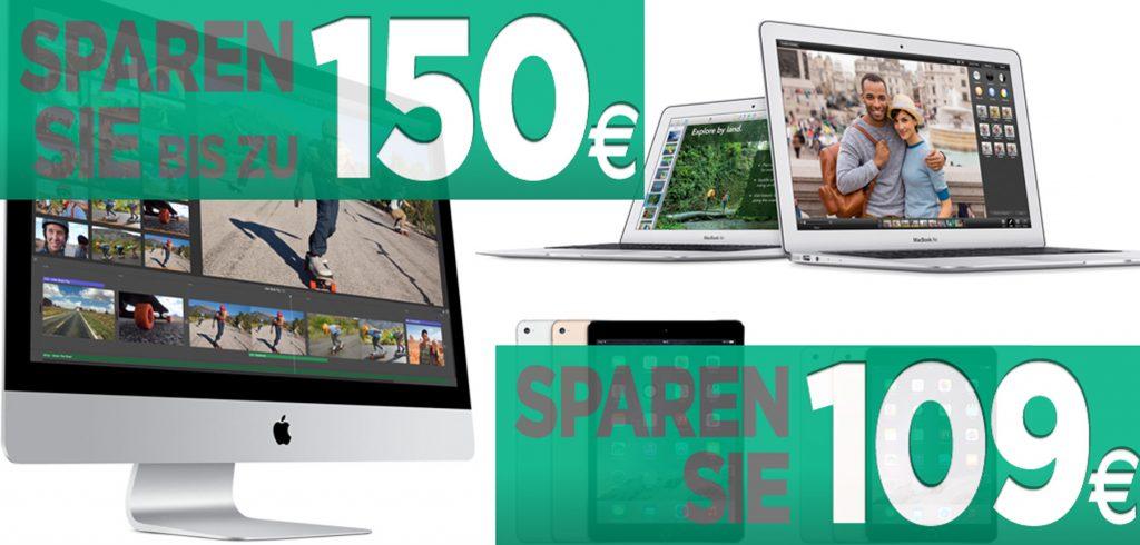 MacTrade Aktion: Apple Rabatte auf iPad Air 2, iPad mini 3, iMac, Macbooks und mehr!