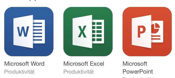 Microsoft Office kostenlos: Word, Excel, Powerpoint für iPhone & iPad!