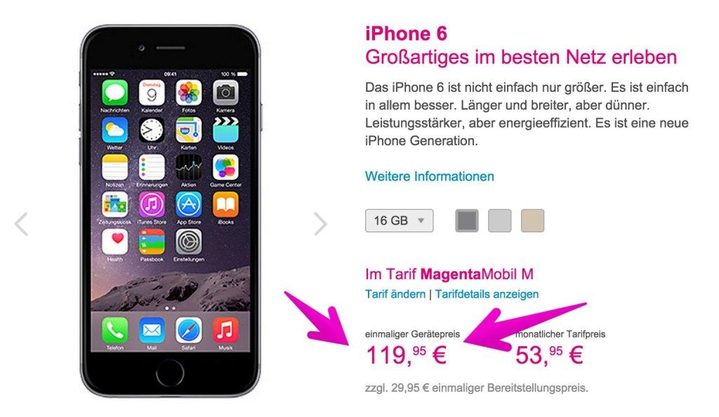 Telekom erhöht iPhone 6 Preise: Apple iPhone wird teurer! screenshot 141110 110621 1024x594