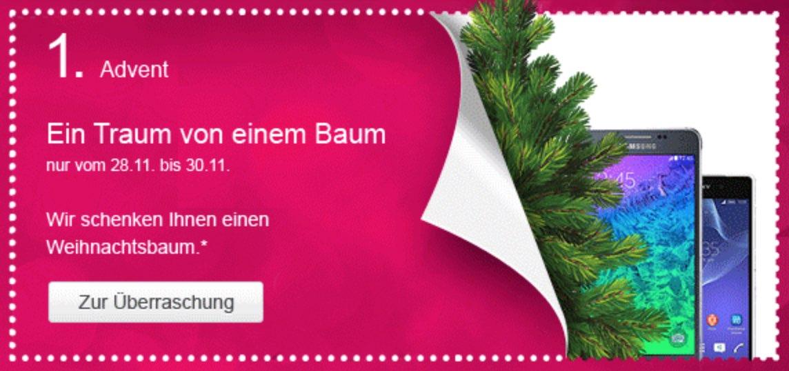 Telekom Weihnachtskalender.Telekom Adventskalender Telekom Verschenkt Kostenlose Weihnachtsbäume