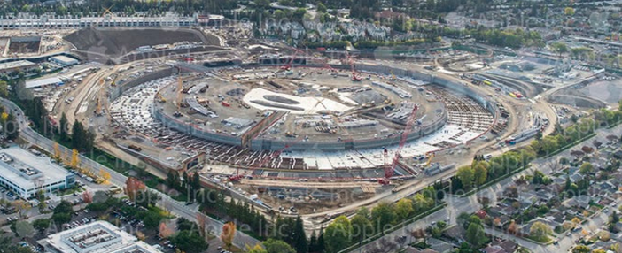 Apple Campus 2: Neues offizielles Bild online Apple Campus 2 702x286