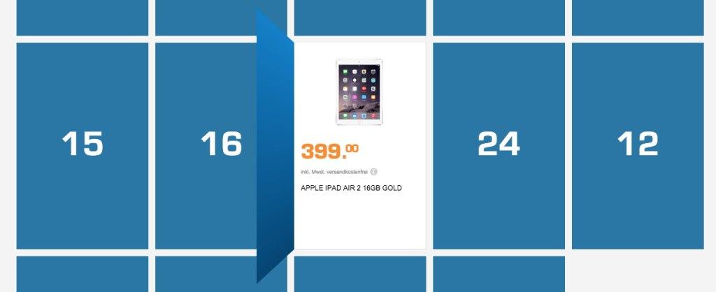iPad Air 2 billiger bei Saturn (Adventskalender) screenshot 141202 130121 1024x418