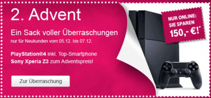 telekom 2 advent playstation 4 bundle. Black Bedroom Furniture Sets. Home Design Ideas