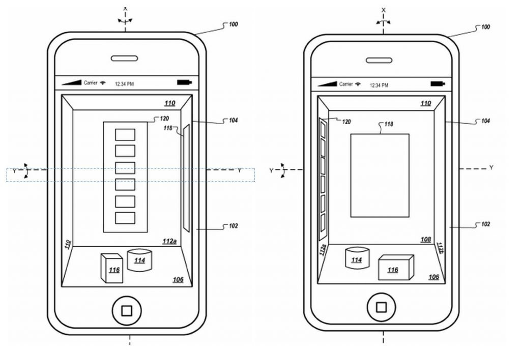 Apple Patent zeigt iPhone mit 3D Interface screenshot 141211 103747 1024x688