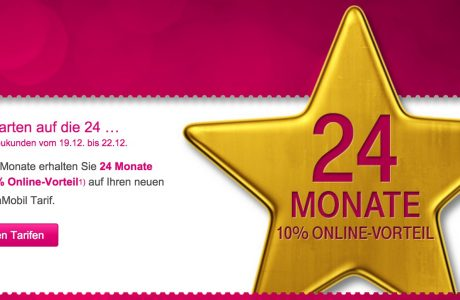 Telekom Rabatt Aktion: 24 Monate 10 Prozent sparen! 12