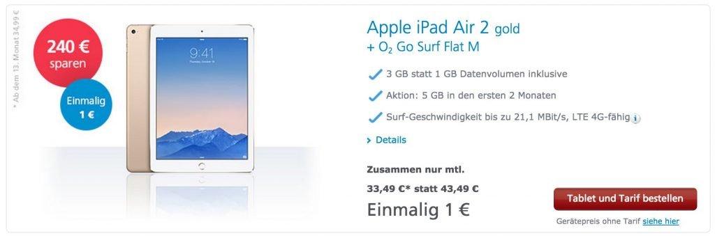 iPad Air 2 Aktion bei O2: 240 Euro billiger! screenshot 141220 121522 1024x342
