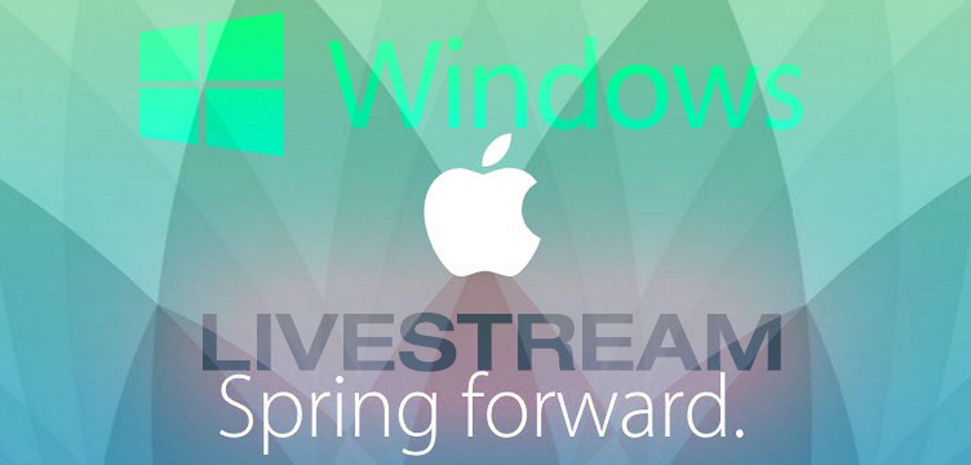 Windows Livestream Apple Watch Special Event 4