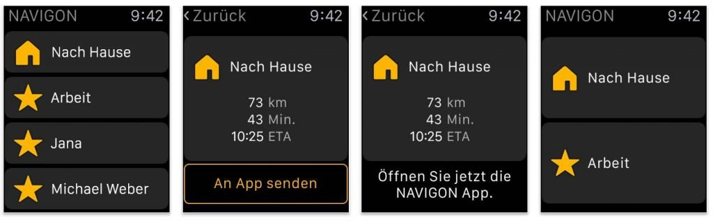 Navigon Apple Watch Update
