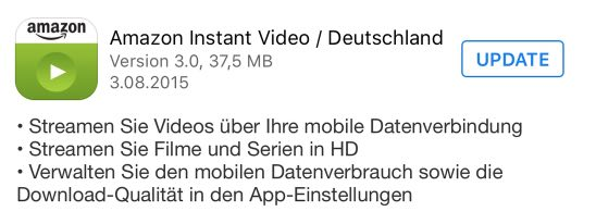 NEU: Amazon Prime Video für iOS mit HD-Streaming 9