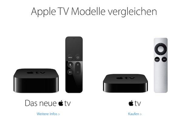apple tv 4 vs apple tv 3 der gro e vergleich. Black Bedroom Furniture Sets. Home Design Ideas