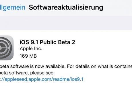 Nachschlag: iOS 9.1 Public Beta 2 Download wird verteilt! 6